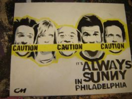 It's Always Sunny in Philly by Stencils-by-Chase