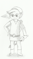 Wind waker Link Drawing by Vanessa28