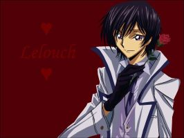 Lelouch with Flower by FMAgirl727