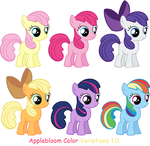 AppleBloom Color Variations 1 by Lillianmax