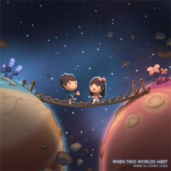 When Two Worlds Meet by hjstory