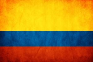 Colombia Grunge Flag by think0