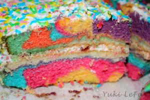 My Rainbow Cake by Yukilefay