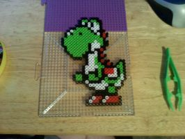 Yoshi done :D -not ironed- by dylrocks95
