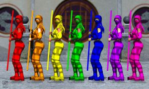 Rainbow Ninjas! by zakazen