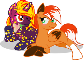 Commission: Foxtrot and Firefly by Topas-Art