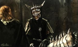 My master, Sauron the Great, bids the welcome by Signore-delle-Ombre