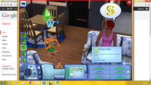 Sims 3 creepy glitch by MissPerfect218