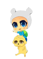 Chibi Finn and Jake by YorozuyaHaruChan