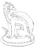 Just a Dragon- Linework by Lucieniibi