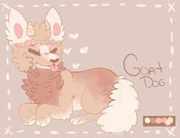 Goat Doggy Adopt CLOSED (DRAW TO ADOPT) by Jackaloaf