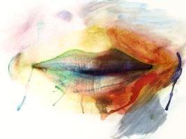 Water Colour Lips by EmilyPFotografee