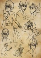 Hiccup Sketchdump by inhonoredglory