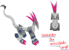 Shredder the metal blade wolf by pd123sonic