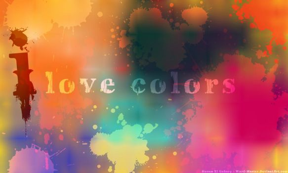 I love colors by Word-Master