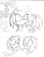Amy Doodles by SonicMiku