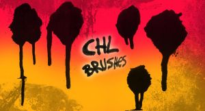 Chl Paint drip brushes by Ctrela