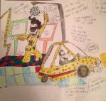 A Goofy Movie: Paint the Night Parade Float Sketch by TheDisneyGoof