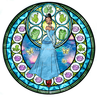 Princess Tiana - Kingdom Hearts Stain Glass by reginaac57