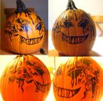 Halloween 2011 pumpkin by ushiyasha