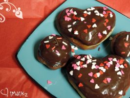 Homemade Heart Donuts by iMaikz