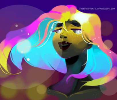 pretty glowy lady by RainbowCookiz
