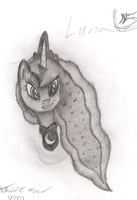 Luna Sketch - Head by AncientOwl