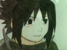 Young Sasuke Blushing by inspired118