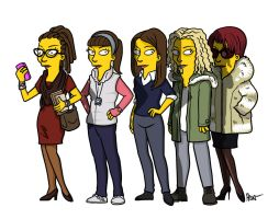 Orphan Black Simpsonized! by ADN-z