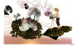 Painting Surreal Landscapes by ivanraposo