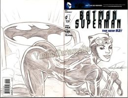 Catwoman sketch cover by VinRoc