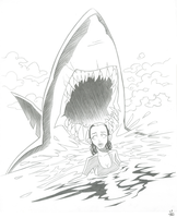 Susan and the Shark by inkjava
