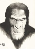 Planet of the apes by leonartgondim