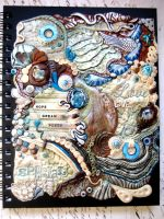Bohemian Blues Polymer Clay Journal by RoyalKitness