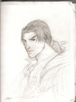 Ezio Auditore-Serious Face by GrimAltair24