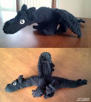 Black Dragon Plushy by sunhawk