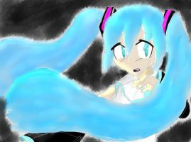 Coloured Miku Sketch by FroggyFroo