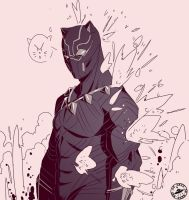 Black panther doodle by Signsoflifeonmars
