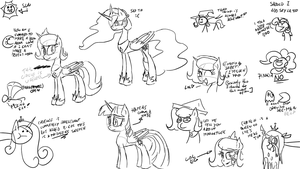 LLDCPrincess Sketching (and other general madness) by TiXoLSeyerk