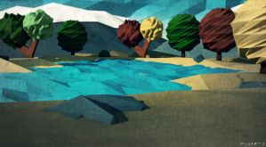 Low Poly Sea. by pyxArtz