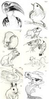 Animal Doodles Sketchdump 1 by Ric-M