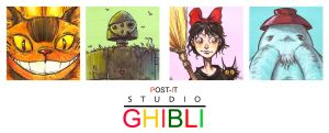 POST IT GHIBLI TWO by QuinteroART