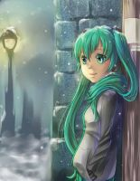 VOCALOID: A snowy Day by pikadiana