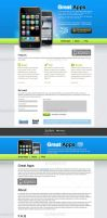 Blue spring iPhone apps web by iconnice