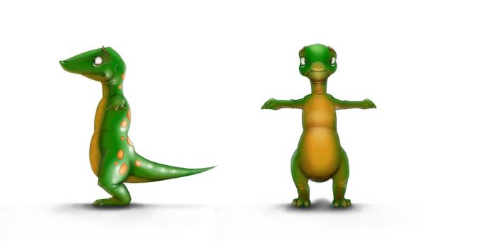 Gecko Character Concept by slamko42