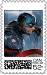 Captain America Postage Stamp by WOLFBLADE111