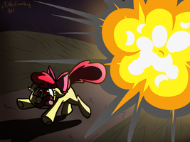 Running Applebloom by alittleofsomething