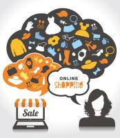 Online Shopping Sale Vector by Designslots