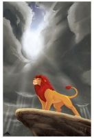 The lion king is here by Crisjofreart