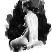 30 min pose life drawing by leventep